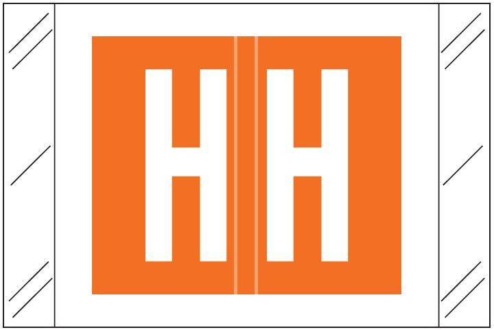 Barkley FASTM Match CTAM Series Alpha Roll Labels - Letter H - Orange Label