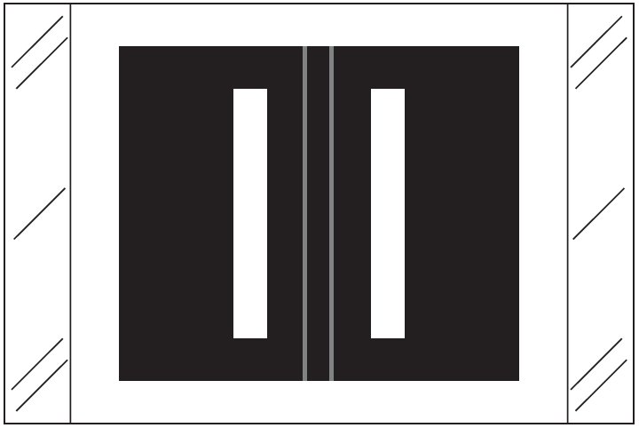 Barkley FASTM Match CTAM Series Alpha Roll Labels - Letter I - Black Label