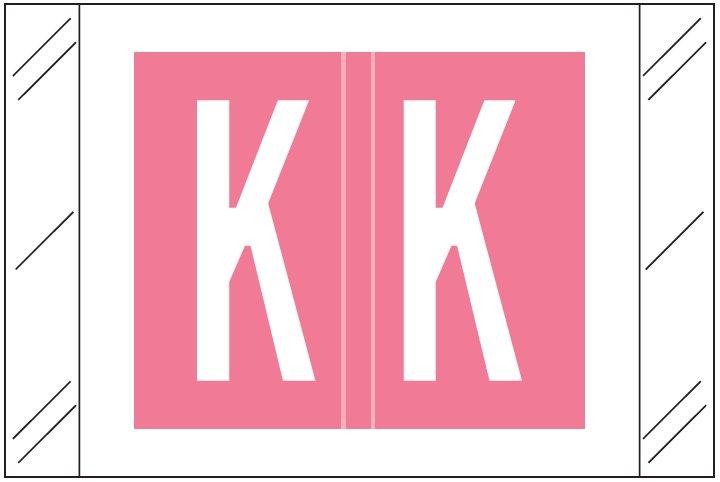 Barkley FASTM Match CTAM Series Alpha Roll Labels - Letter K - Pink Label