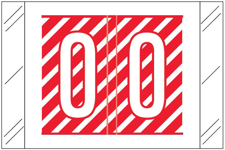 Barkley FASTM Match CTAM Series Alpha Roll Labels - Letter O - Red and White Label