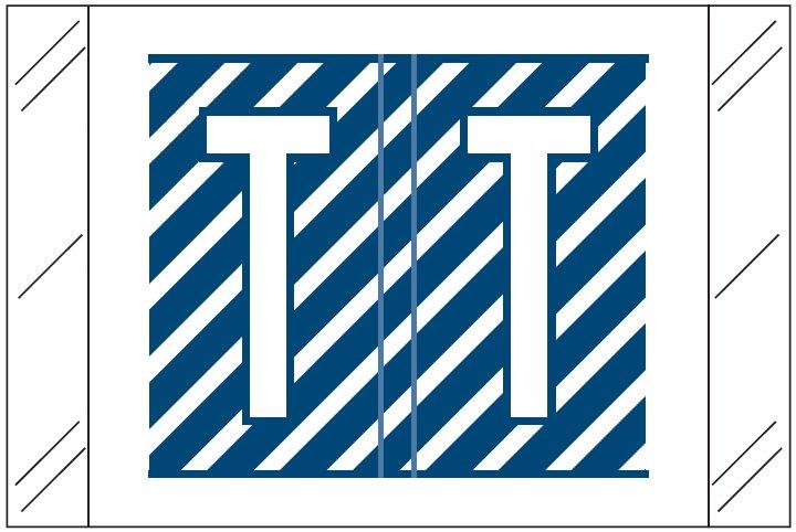 Barkley FASTM Match CTAM Series Alpha Roll Labels - Letter T - Dark Blue and White Label