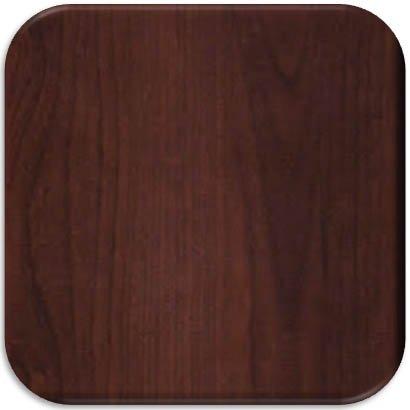 Harloff Wood Laminate In-Wall Medication Cabinet, Single Key Lock, Single Drop Door with Dark Cherry Finish Panel