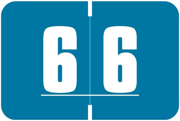 Digi Color Match DCNM Series Numeric Roll Labels - Number 6 - Dark Blue