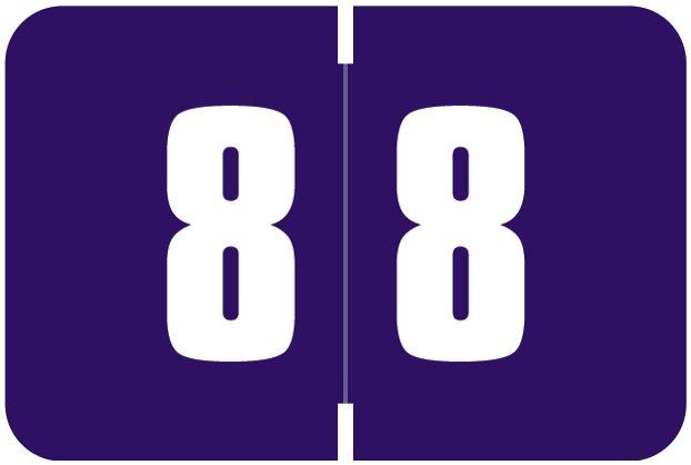 Digi Color Match DCNM Series Numeric Roll Labels - Number 8 - Purple