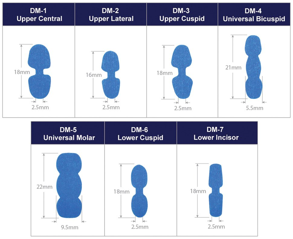 Scaneez DentureMark Starter Pack (Pack of 14 Markers - 2 of Each DM-1 thru DM-7)
