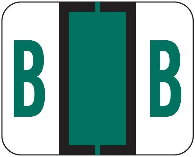 File Doctor Match FDAV Series Alpha Roll Labels - Letter B - Dark Green