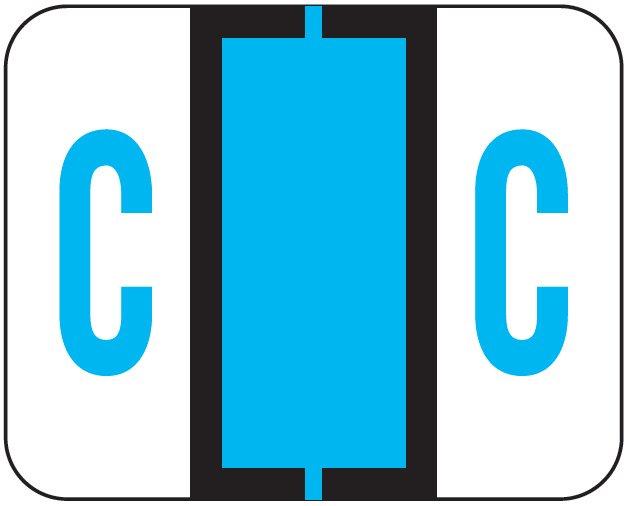 File Doctor Match FDAV Series Alpha Roll Labels - Letter C - Blue