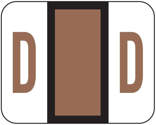 File Doctor Match FDAV Series Alpha Roll Labels - Letter D - Brown