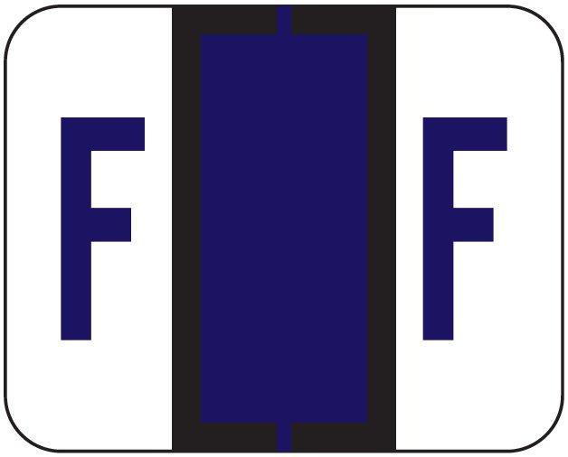 File Doctor Match FDAV Series Alpha Roll Labels - Letter F - Purple