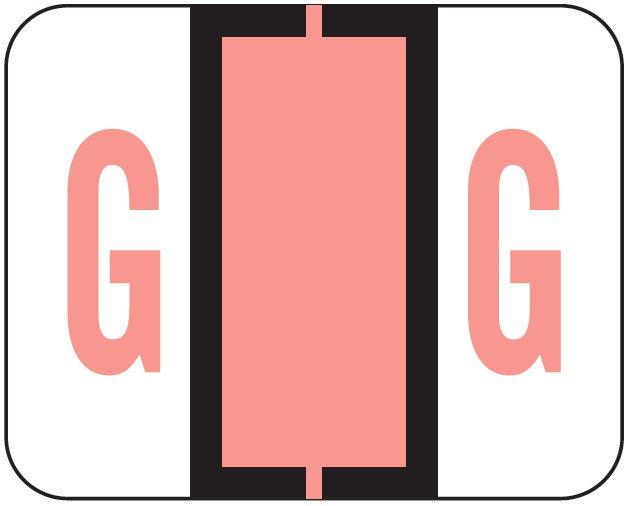 File Doctor Match FDAV Series Alpha Roll Labels - Letter G - Pink