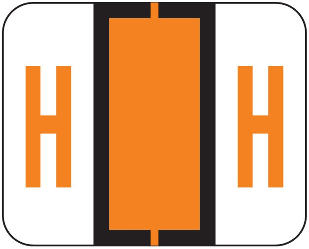 File Doctor Match FDAV Series Alpha Roll Labels - Letter H - Orange