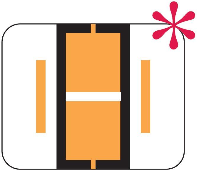 File Doctor Match FDAV Series Alpha Roll Labels - Letter I - Fluorescent Orange