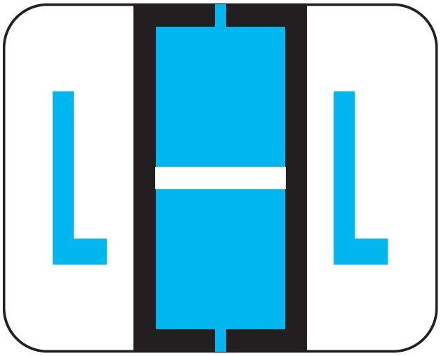 File Doctor Match FDAV Series Alpha Roll Labels - Letter L - Blue