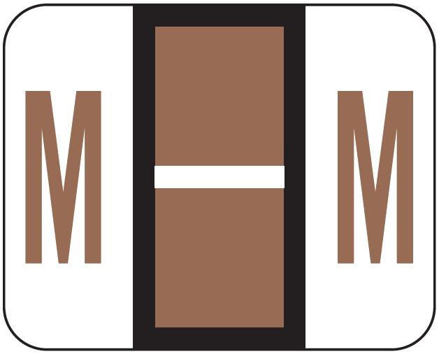 File Doctor Match FDAV Series Alpha Roll Labels - Letter M - Brown