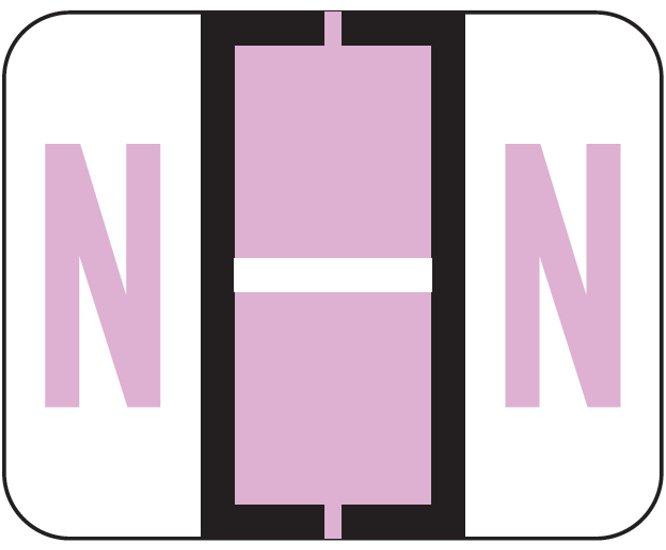 File Doctor Match FDAV Series Alpha Roll Labels - Letter N - Lilac