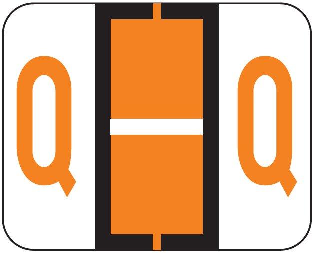 File Doctor Match FDAV Series Alpha Roll Labels - Letter Q - Orange