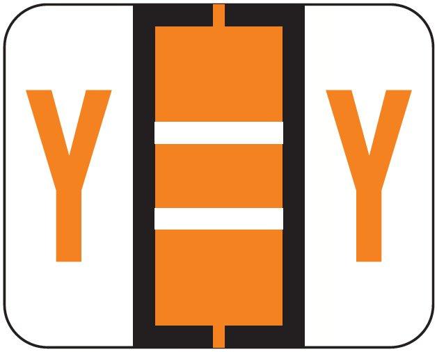 File Doctor Match FDAV Series Alpha Roll Labels - Letter Y - Orange
