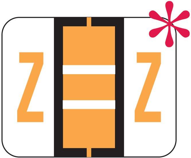 File Doctor Match FDAV Series Alpha Roll Labels - Letter Z - Fluorescent Orange