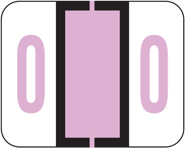 File Doctor Match FDNV Series Numeric Roll Labels - Number 0 - Lilac
