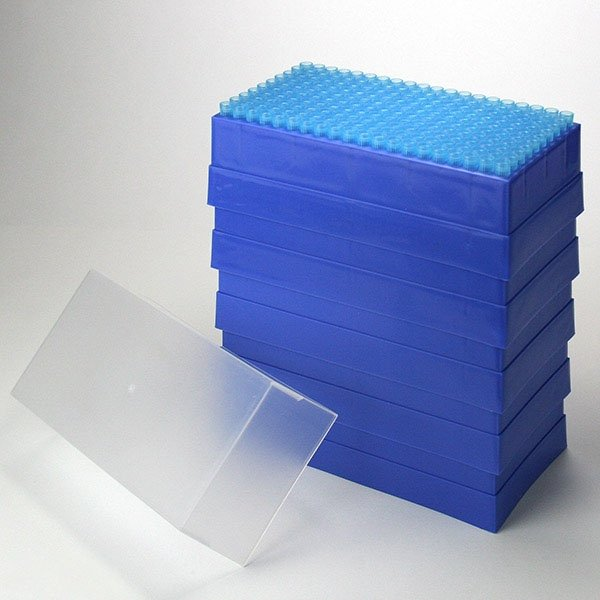 100uL - 1000uL Universal Pipette Tips - Blue - Case of 1000 (200/Rack - 5 Racks/Case)
