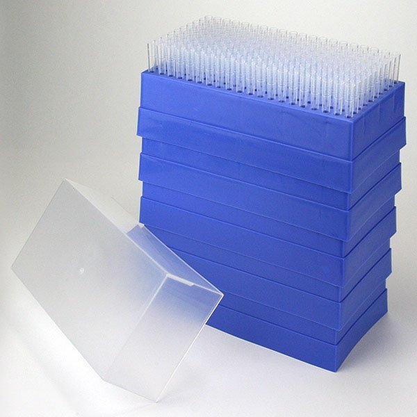 200uL - 1000uL Pipette Tips For Use With MLA Pipettors - Natural - Case of 1000 (200/Rack - 5 Racks/Case)
