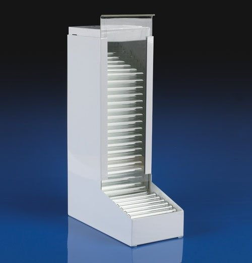 Metal Dispenser for 13mm x 100mm Borosilicate Glass Culture Tubes