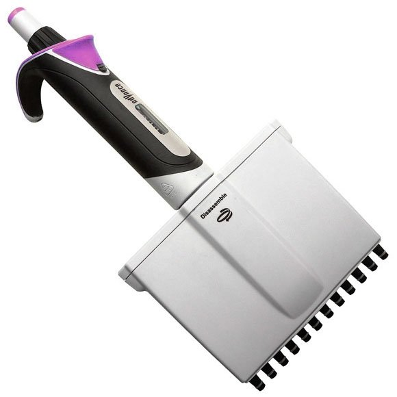 Diamond Advance Pipettor - 12-Channel Adjustable Volume 20uL-200uL - Increment 0.2uL - Lavender