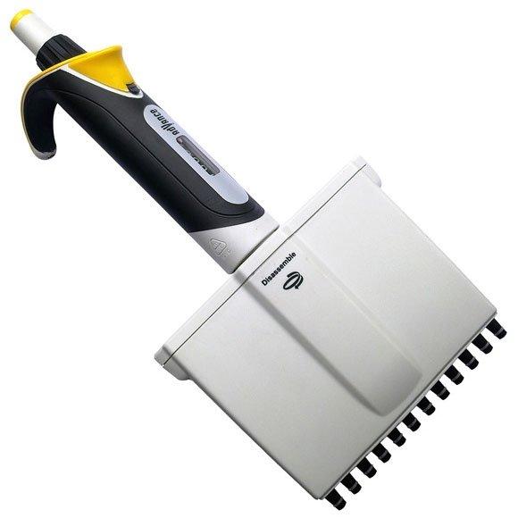 Diamond Advance Pipettor - 12-Channel Adjustable Volume 2uL-20uL - Increment 0.02uL - Yellow