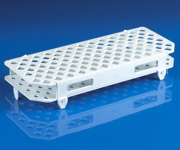 100-Place Snap-N-Racks Tube Rack for Microcentrifuge Tubes - Polypropylene - White