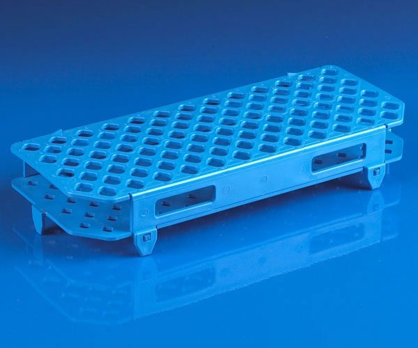 100-Place Snap-N-Racks Tube Rack for Microcentrifuge Tubes - Polypropylene - Blue
