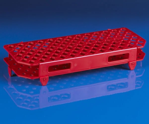100-Place Snap-N-Racks Tube Rack for Microcentrifuge Tubes - Polypropylene - Red