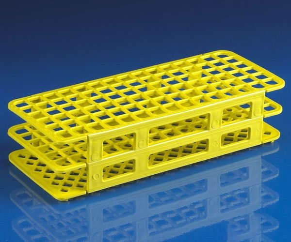 90-Place Snap-N-Racks Tube Rack for 12mm/13mm Tubes - Polypropylene - Yellow