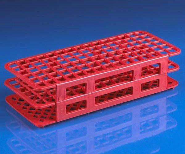 90-Place Snap-N-Racks Tube Rack for 12mm/13mm Tubes - Polypropylene - Red