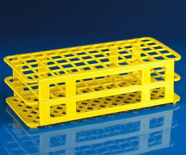 60-Place Snap-N-Racks Tube Rack for 16mm/17mm Tubes - Polypropylene - Yellow