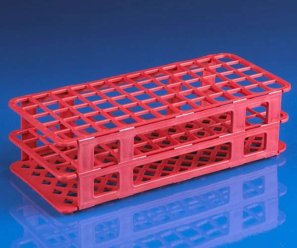 60-Place Snap-N-Racks Tube Rack for 16mm/17mm Tubes - Polypropylene - Red