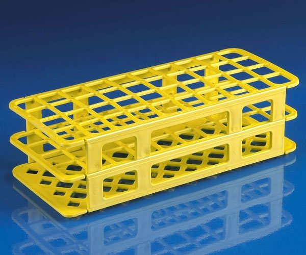 40-Place Snap-N-Racks Tube Rack for 20mm/21mm Tubes - Polypropylene - Yellow