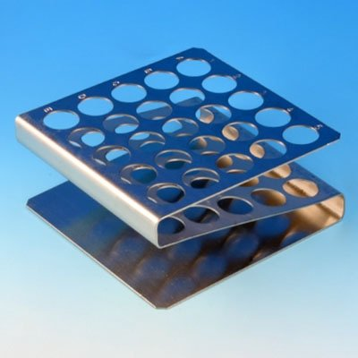 25-Place Stainless Steel Z Shape Rack for 16mm/17mm Tubes