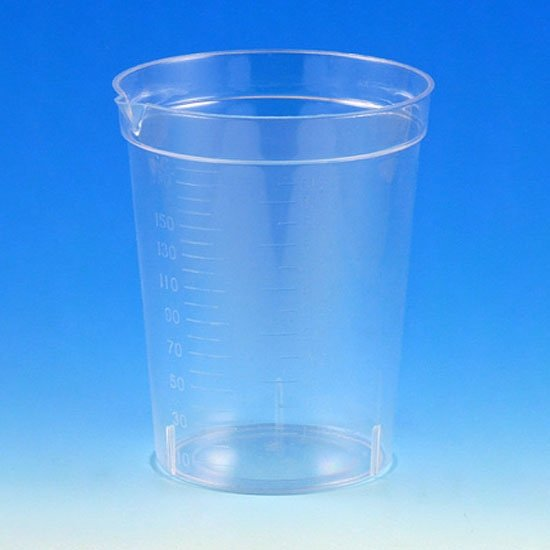 6.5oz Specimen Container with Pour Spout - Polystyrene (PS)