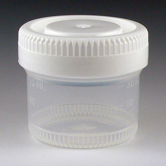 40mL Tite-Rite Container - 48mm Opening - Separate White Screw Cap (Case of 600)