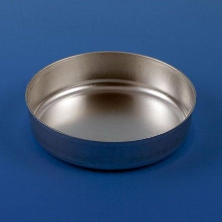 Aluminum Round Dish - Smooth Wall without Tab - 70mm - 2.0g (80mL) - Case of 1000 - BACKORDER UNTIL 9/21/2021