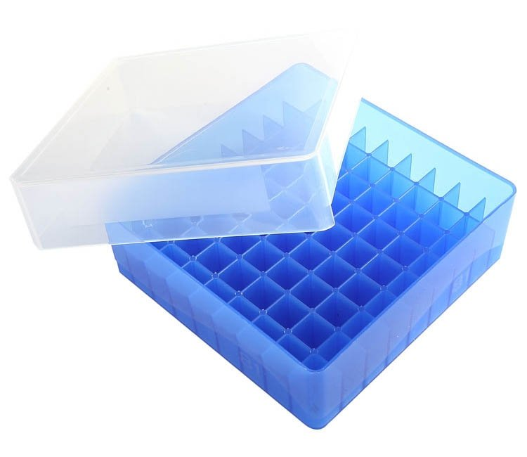 HS 81-Well Microtube Storage Box - Blue