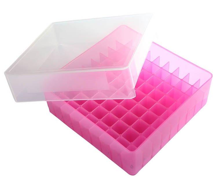 HS 81-Well Microtube Storage Box - Pink
