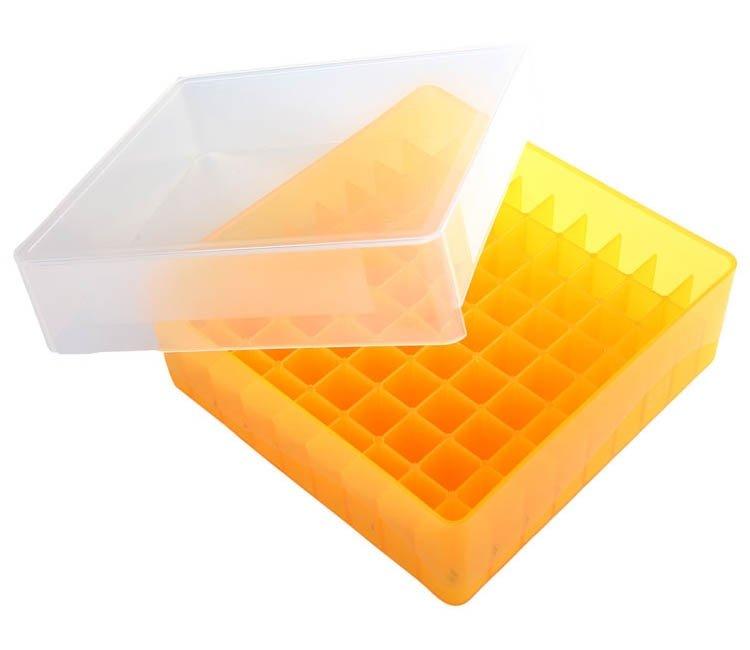 HS 81-Well Microtube Storage Box - Orange