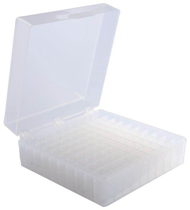 100-Well Hinged Storage Box - Natural
