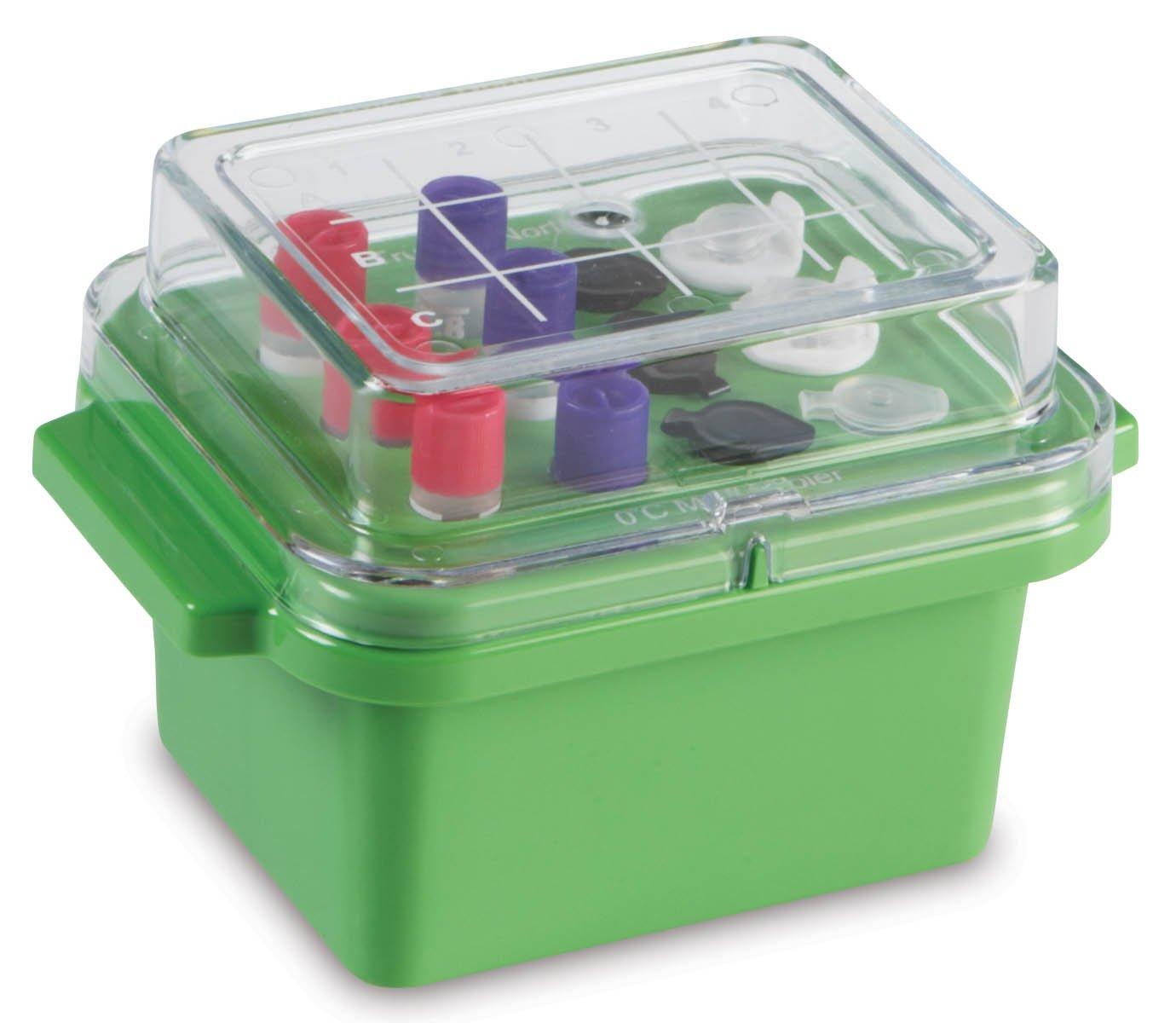 True North Green Mini Cooler 0 Degrees C - Clear Lid - 12 x 0.5-2.0 mL