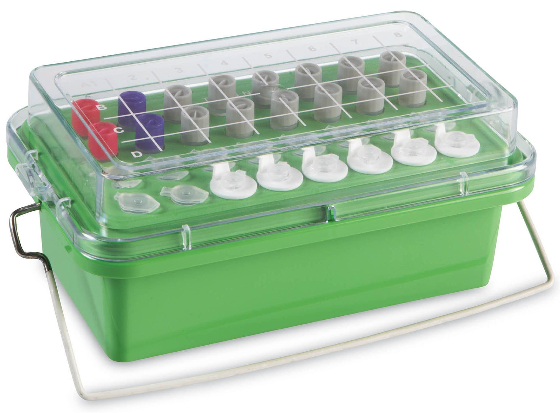 True North Green Mini Cooler 0 Degrees C - Clear Lid - 32 x 0.5-2.0 mL