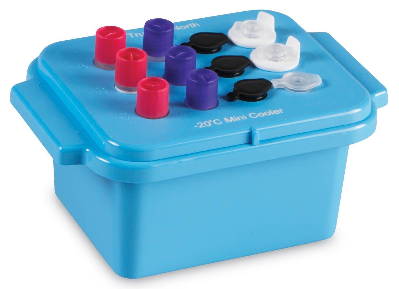 True North Blue Mini Cooler -20 Degrees C - Clear Lid - 12 x 0.5-2.0 mL