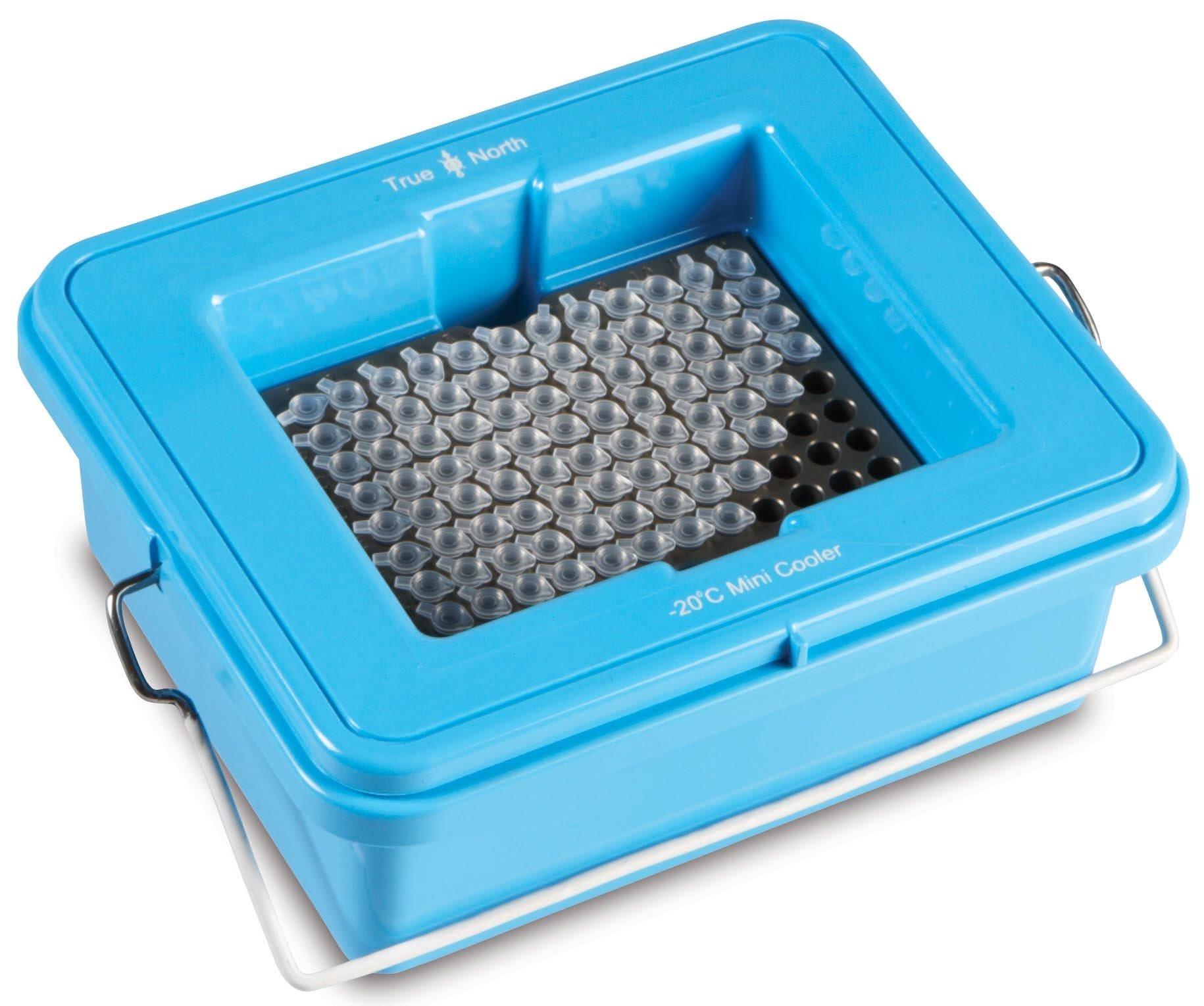 True North Blue Mini Cooler -20 Degrees C - Clear Lid - 96 x 0.2 mL
