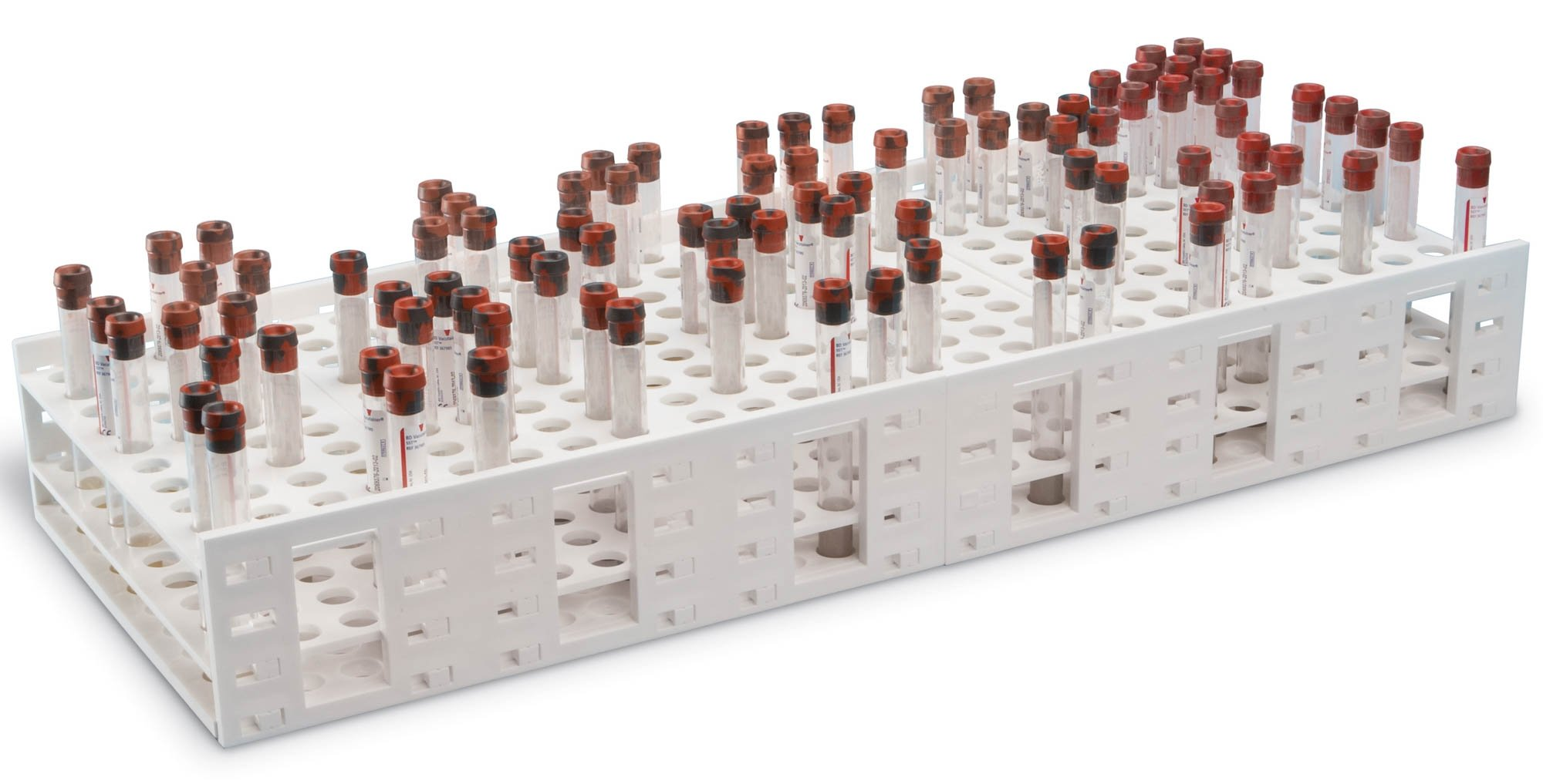 HS Double Mega Rack for 13-16mm Tubes - 240 Tubes Capacity - White