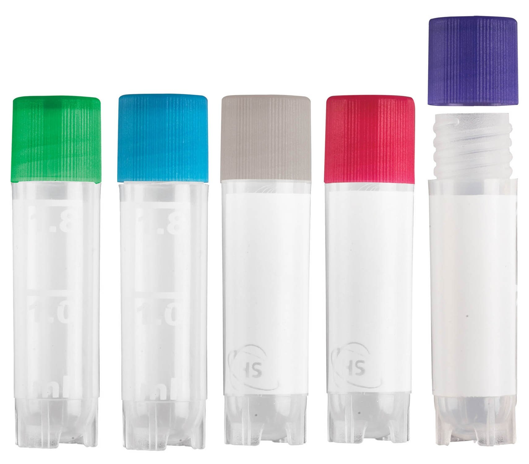 True North Cryogenic Sample Vial 2.0 mL with Assorted Lid Colors (BACKORDER UNTIL 11/08/2021)